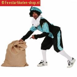 Carnavalskostuum blauwe zwarte pieten kostuum budget