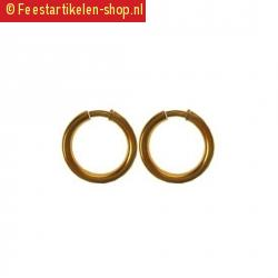 Goud kleurige oorringen zwarte piet