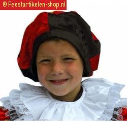 Kinder pieten baretje rood zwart