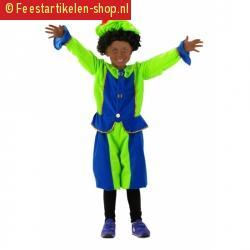 Kinder pietenpakjes blauw groen