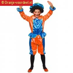 Kinder pietenpakjes oranje blauw