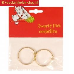 Pieten accessoires gouden oorbellen