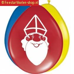 Sinterklaas ballonnen 8 stuks