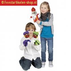 Sinterklaas handpop piet paars 25 cm