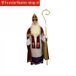 Sinterklaas kostuum rood fluweel