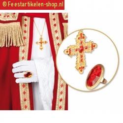 Sinterklaas set goudkleurig
