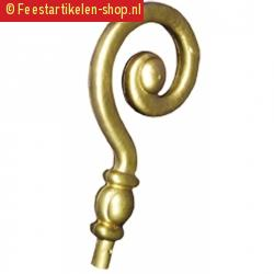 Sinterklaas stafkrul goud 36 cm