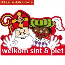 Sinterklaas welkom sint en piet deurbord