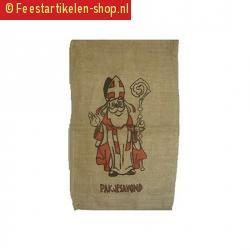 Sinterklaas zak van jute 60 x 102 cm