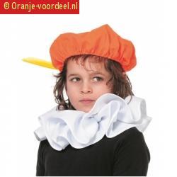 Stoffen oranje pieten baret voor kids