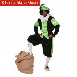 Zwarte piet kostuum groen grote maat