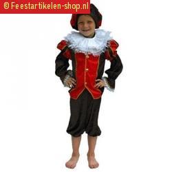Zwarte piet kostuum kind rood zwart
