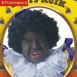 Zwarte pieten pruik kinderen